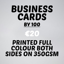 Business Cards qty 100 both sides 350gsm